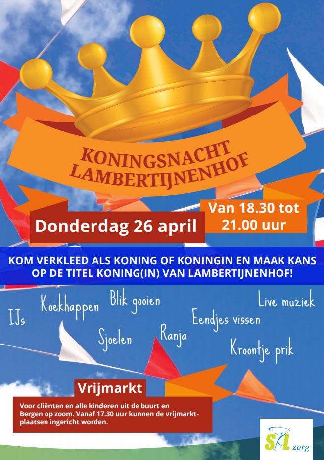 Koningsnacht Lambertijnenhof Bergen op Zoom 2018