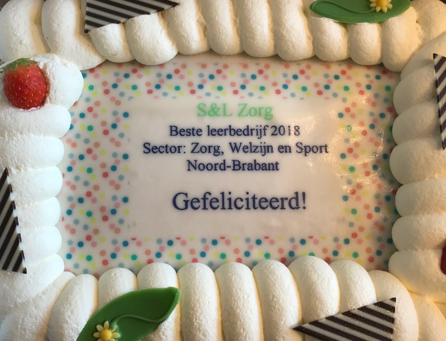 beste leerbedrijf 2018 Noord-Brabant Zorg, Welzijn en Sport