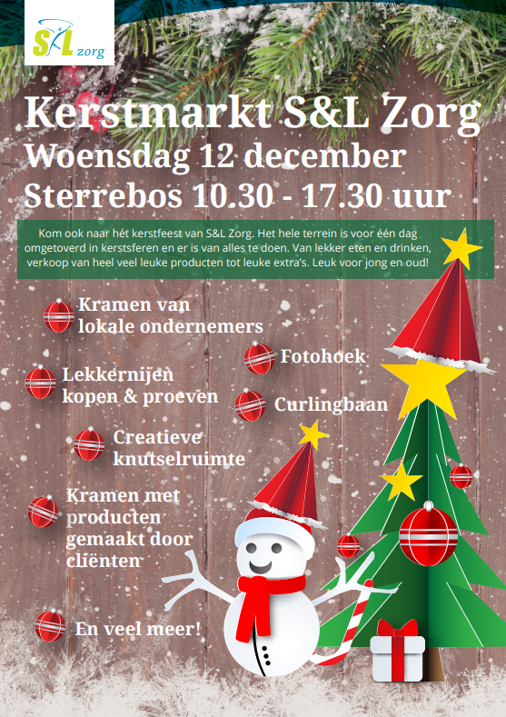 Kerstmarkt S&L Zorg Sterrebos Roosendaal 2018